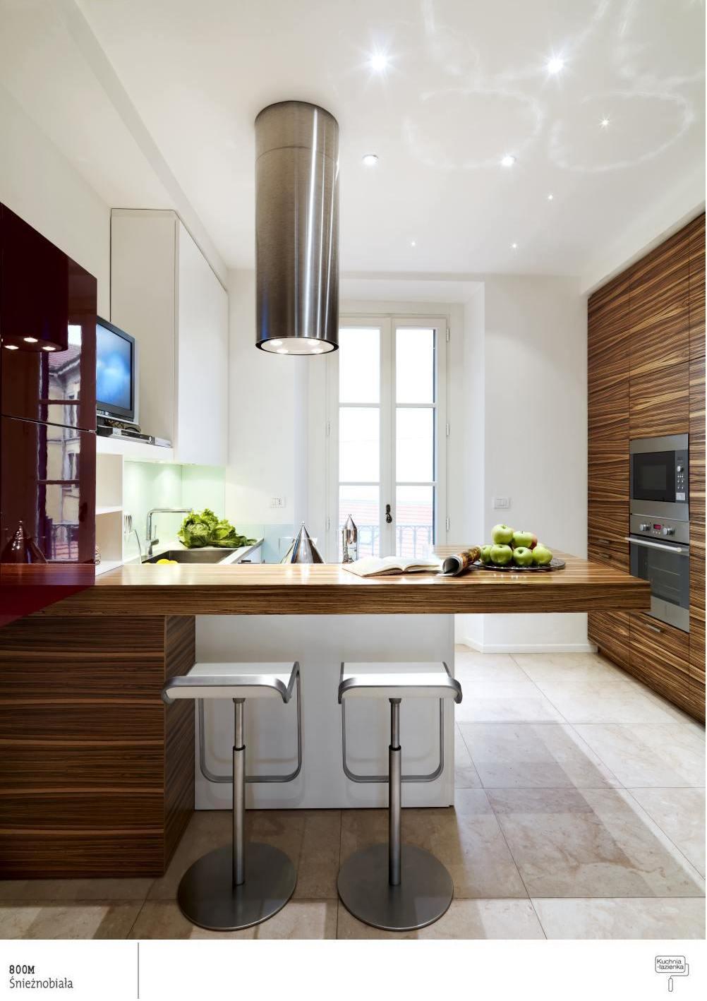 White kitchen – always up to date!  Śnieżka farby   -> Kuchnia Jasna Drewno