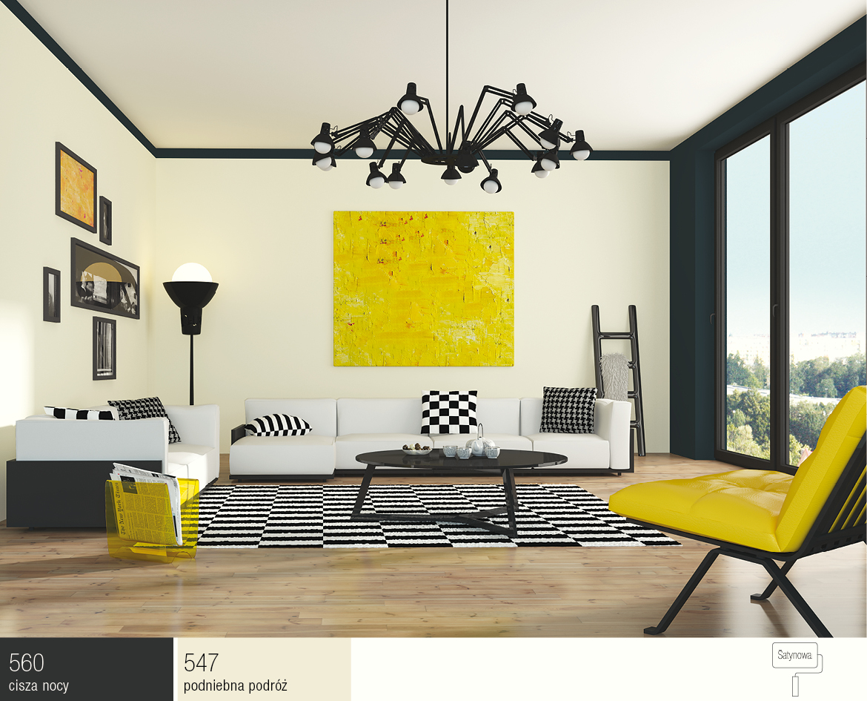 Lounge in yellow interior design nieka farby lakiery kleje