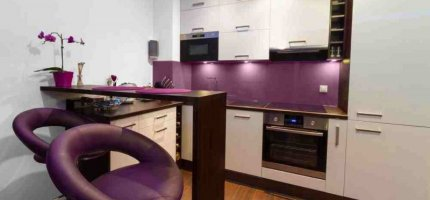 Violet kitchen – from idea to realization.