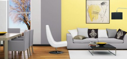 Lounge in yellow – interior design