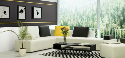 5 ideas on wall colors in a living room