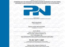Śnieżka Acryl-PUTZ® products - the only putties on the Polish market with certificate of Polish Standard