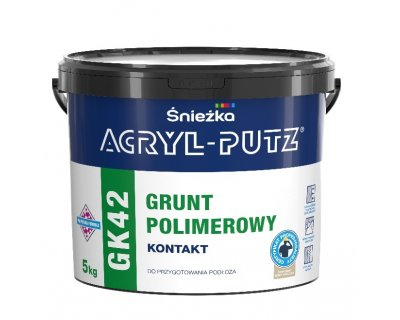 ACRYL-PUTZ GK42 GRUNT POLIMEROWY KONTAKT For priming smooth surfaces – as well as concrete, brick, lime, cement and lime, gypsum and plaster cardboard panels