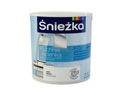 Sniezka Kitchen–Bathroom Latex paint for interiors with silicone component