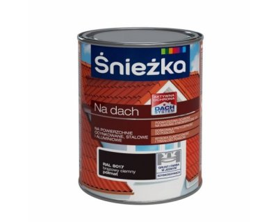 Sniezka roof Polyvinyl paint for galvanized, steel and aluminium surfaces