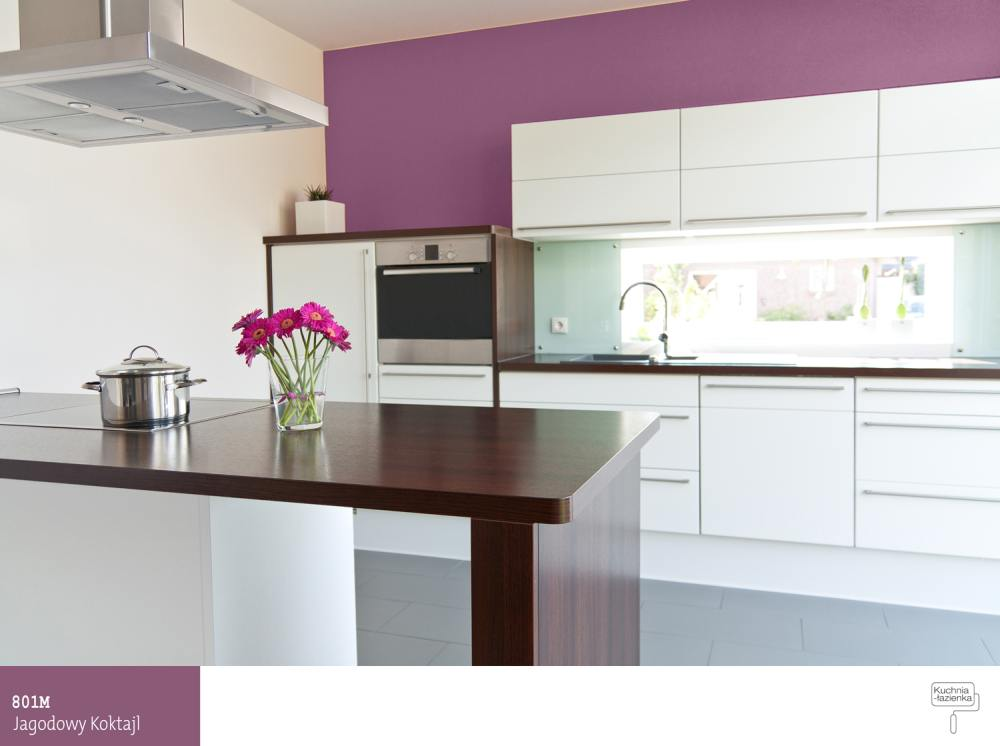 Violet Kitchen From Idea To Realization Sniezka Farby Lakiery